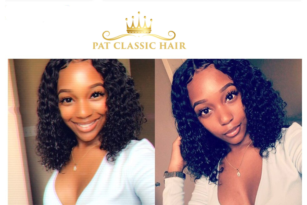 Short Bob Curly Lace Front Human Hair Wigs 4x4 Closure Wig Remy Pixie Cut Natural Water Wave 13x6 Frontal Wigs Pre Plucked